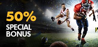 SPORTS 50% SPECIAL BONUS