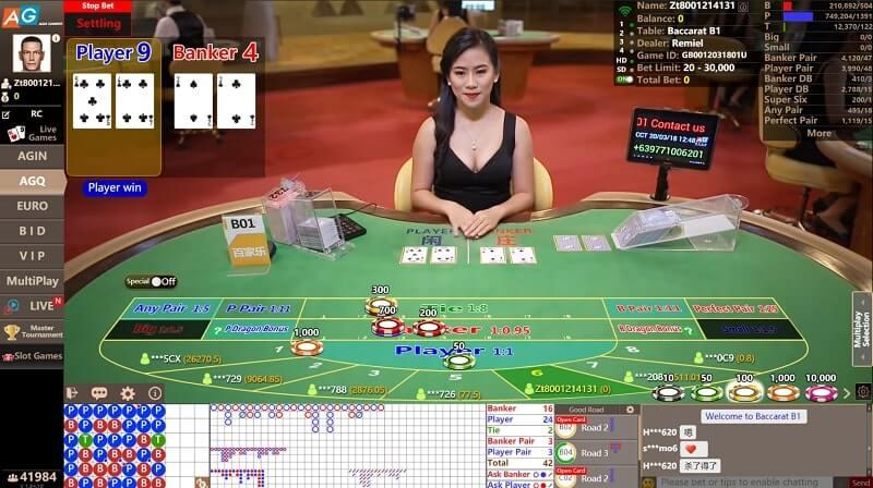 asia gaming agq baccarat