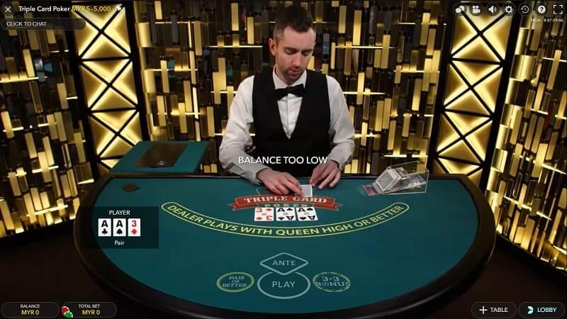 evolution gaming poker