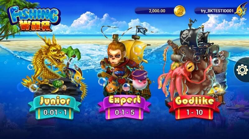 fishing war levels