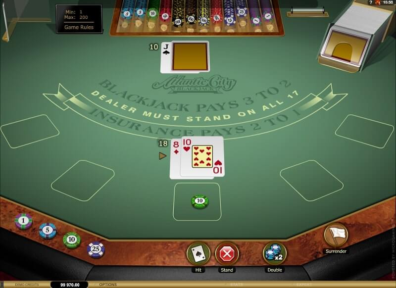 microgaming atlantic blackjack